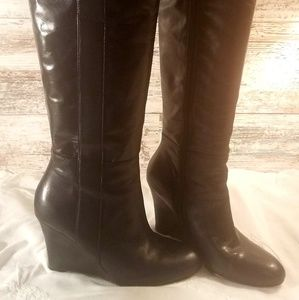 NINE WEST TALL WEDGE BOOTS